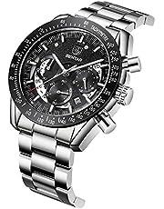 BY BENYAR Relojes de Pulsera con Estilo para Hombres | Reloj cronógrafo con Movimiento de Cuarzo | 30M Resistente al Agua y a los arañazos Cada ocasión