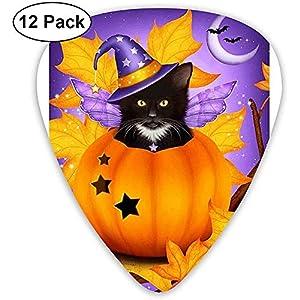 Pumpkin Black Cat Plektren 12 Packungen für Bass-, Elektro- und Akustikgitarren, dünn, mittel, schwer, 0,46/0,71/0,96 mm