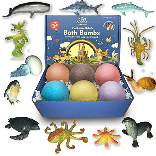 Bath Bombs For Kids with Surprise Inside SEA ANIMALS - Natural and...