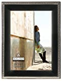 Malden International Designs Classic Metal Beads 2-Tone Picture Frame, 5 by 7-Inch, Black and Silver
