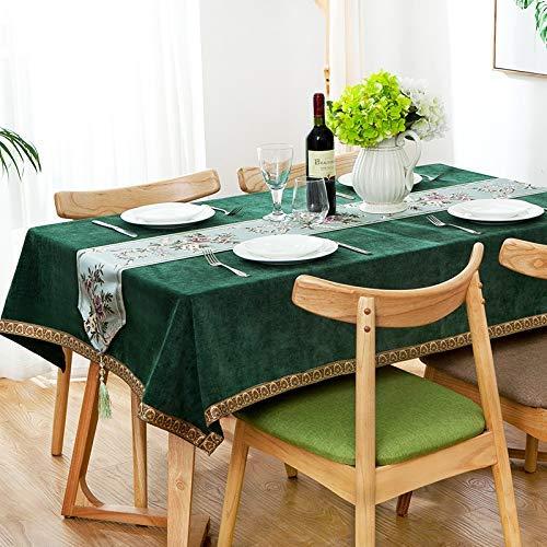 blu Bridge Tavolino da caffè Casa in Stile Cinese Tinta Unita tavolino tovaglia in Cotone Lino Piccolo Tavolo Fresco Tessuto Semplice e Moderno Cuscino Rettangolare per Sedia Ristorante