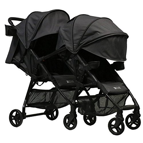 ZOE XL1 Best Tandem Lightweight Travel & Everyday Umbrella Stroller System (Noah Grey)