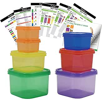 Portion Control Containers | Portion Control | Color-Coded Containers | Color-Coded Portion Control Containers | Portion Control Ideas | Portion Control Ideas for Organization