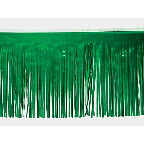 Metallic Green Fringe - Grass Green Vinyl Fringe - 15