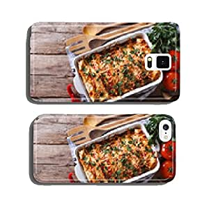 Mexican enchilada in a baking dish horizontal top view cell phone cover case iPhone6 Plus