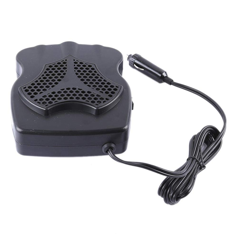 Chengstore Car Heater Fan,Portable 12V 200W Winter Auto Car Heater Cooling Fan Windscreen Window Demister Defroster Noiseless Car Air Conditioning