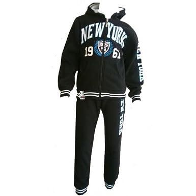 Fashion-Chándal para niño, diseño de Nueva York, color negro ...