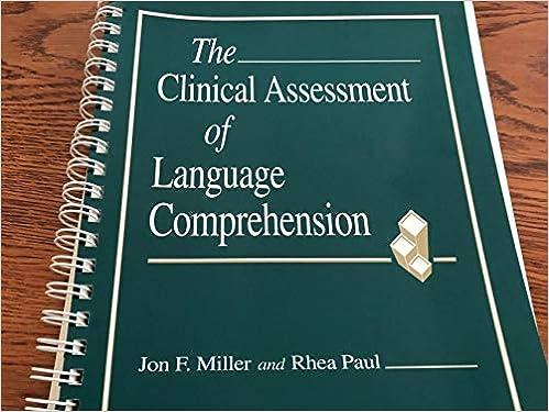 Clinical Assessment of Langauge Comprehension