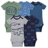 Gerber Baby-Boys 5 Pack Variety Onesies, Dino Roar, 0-3 Months