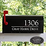 Back40Life - Mailbox Numbers Street Address Vinyl Decal (E-004q)