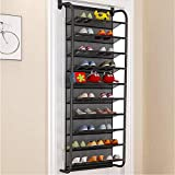 FKUO 10-Tier Over The Door Shoe Organizer Hanging
