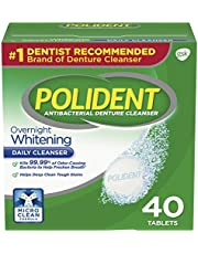 Polident Overnight Whitening Tablets, 40 Tabs by Polident