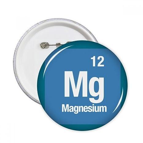 DIYthinker Regalo mg de magnesio elemento químico Chem pernos redondos insignia del botón de la ropa
