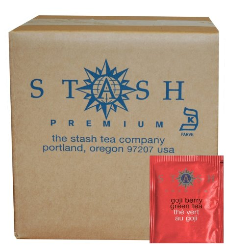 (Stash Tea Goji Berry Green Tea 100 Count Tea Bags in Foil (Packaging May Vary) Individual Green Tea Bags for Use in Teapots Mugs or Cups, Brew Hot Tea or Iced Tea)