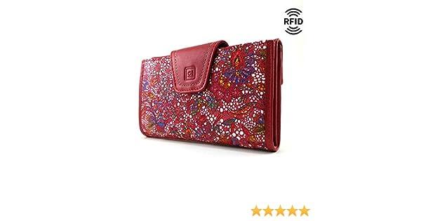 Monedero Mujer, RFID, Cartera Mujer, Hecho España, Casanova, Hecha en Piel de Vaca, Ref. 27818 Rojo: Amazon.es: Handmade