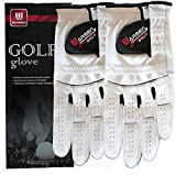 2 Pack Golf Gloves for Men - Premium Cabretta