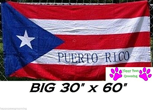 PUERTO RICO RICAN Flag Banner Big 30x60