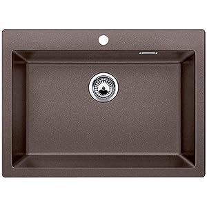 Hafele Kitchen Sink, Dark Brown, Steel Finish