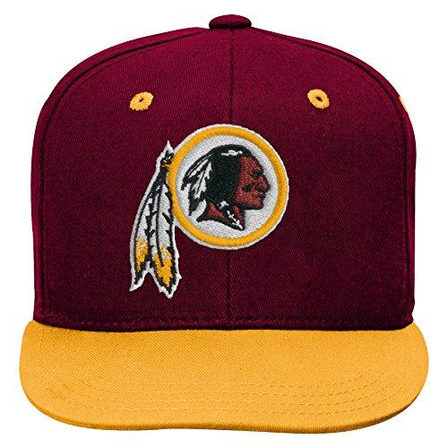 - Outerstuff NFL NFL Washington Redskins Kids 2-Tone Flat Visor Snapback Hat Burgundy, Kids One Size