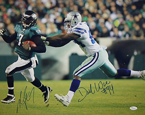 DeMarcus Ware Michael Vick Autographed 16x20 Photo- JSA W Authenticated
