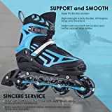 ITurnGlow Boys Adjustable Inline Skates for Kids