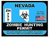 Nevada Zombie Hunting Permit(Bumper Sticker)