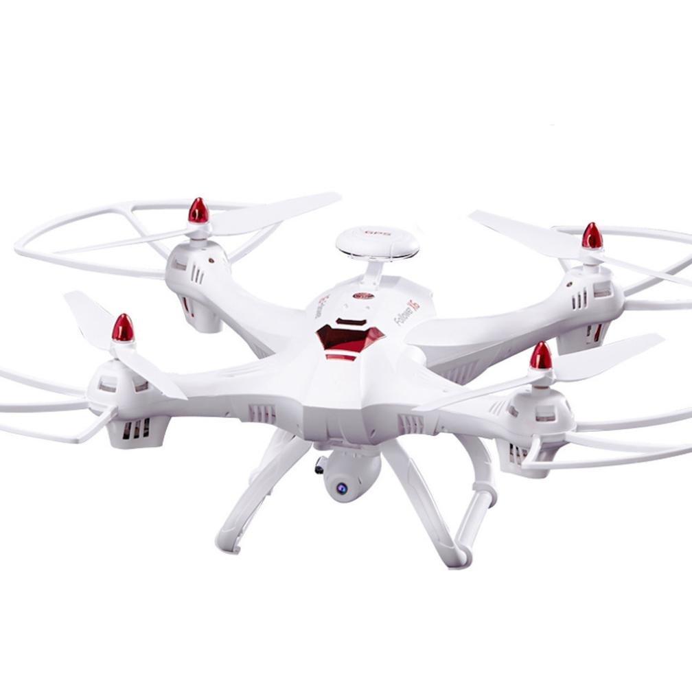 Dreamyth New Global Drone X183 5.8GHz 6-Axis Gyro WiFi FPV 1080P Camera Dual-GPS Follow Me Brushless Quadcopter (White) by Dreamyth