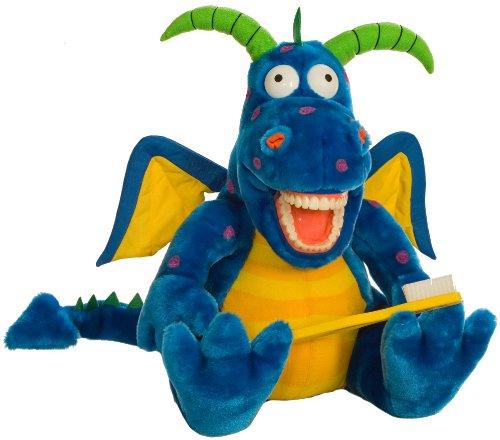 Oral Health Presentation Puppet Magi Dragon Educational Plush Dragon Toothbrush