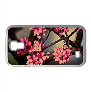 Purple Flowers On A Tree Watercolor style Cover Samsung Galaxy S4 I9500 Case (Spring Watercolor style Cover Samsung Galaxy S4 I9500 Case)