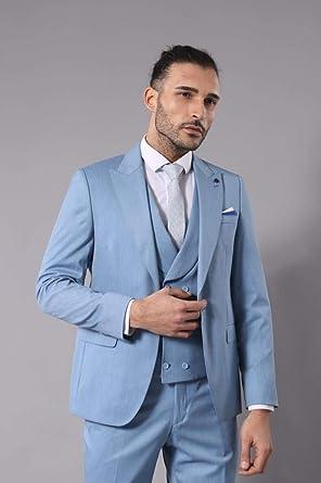 048b094070319 Yakalı Yelek Bebek Mavi Takım Elbise | Wessi 52: Amazon.com.tr ...