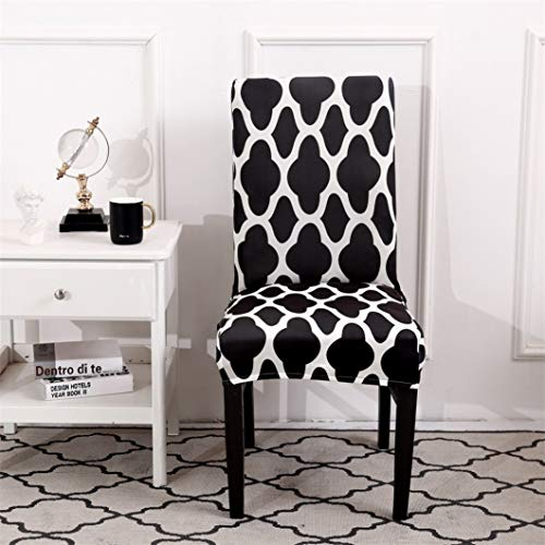 SGHOME Chair Cover Plain Print Classic Armless Seat Protector Weddings Hotel Party Banquet Dining Room Home Decoration ()