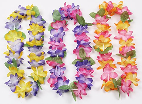 Oojami Mahalo Floral Leis : Package of 12 -
