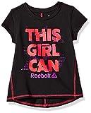 Reebok Little Girls' Short Sleeve Tee, 3019-Black, 6