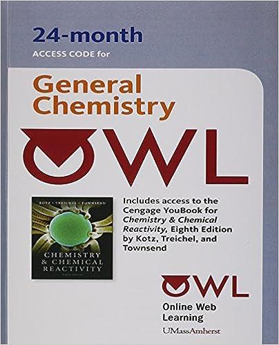 Chemistry Chemical Reactivity Owl Access Code Kotz John C Treichel Paul Townsend John R 9781111305239 Amazon Com Books