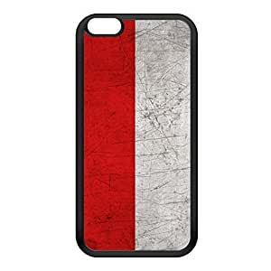 Old Grunge Metal Flag of Monaco - Drapeau de Monaco Black Silicon Rubber Case for iPhone 6 Plus by UltraFlags + FREE Crystal Clear Screen Protector