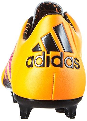 adidas Herren X 15.1 FG/AG Leather Fußballschuhe Naranja / Rosa / Negro (Dorsol / Rosimp / Negbas)
