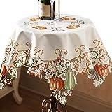 Collections Etc Autumn Harvest Diecut Decorative Table Linens, Square