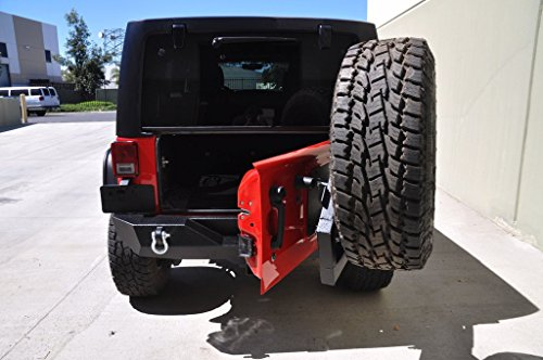 Bumper Body 2 Rear Kit (DV8 Offroad Single Action Rear Bumper and Tire Carrier w/Bearing RS-2)