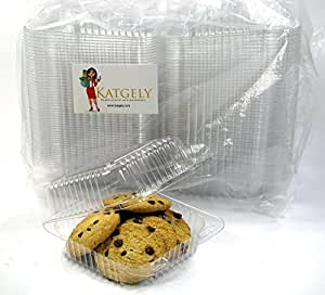 Katgely Medium Square Cookie Container (Pack of 50)