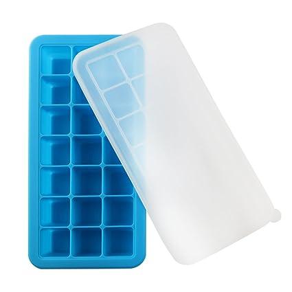 vitasemcepli cubitos de hielo Col Tapa Silicona Bandeja para conservar alimentos de los niños y comer
