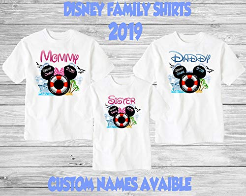 1808e218e Amazon.com: Family Disney Cruise Shirts. Matching Family Vacation Shirts.  These Are The Perfect Way To Celebrate Being On A Disney Cruise.