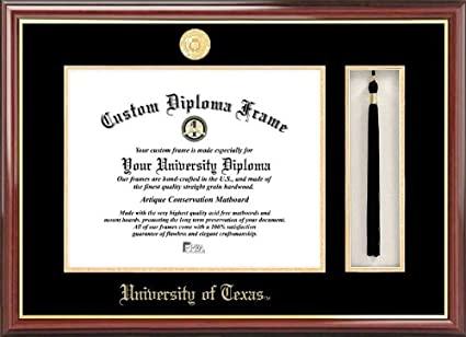 Amazon.com: University of Texas, Austin Tassel Box and Diploma Frame ...