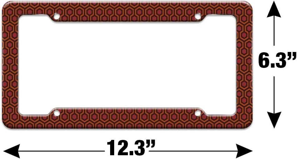 Graphics and More The Shining Floor Pattern License Plate Tag Frame