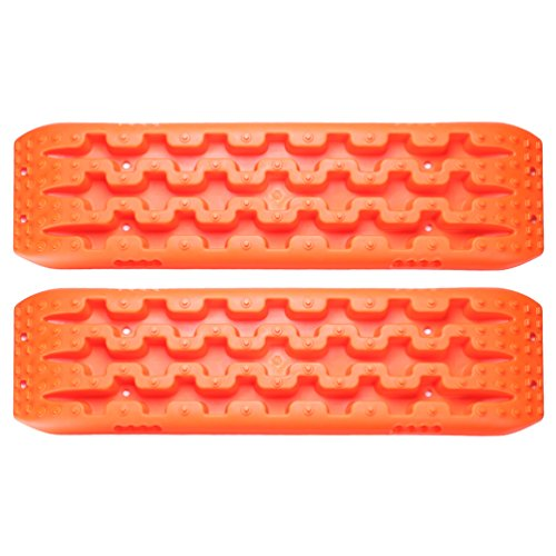 Traction Mat Emergency Tires Traction Mats Track Trapped Recovery Boards Vehicle Extraction Tire Grip Snow Ice Sand Mud Orange by SUNPIE (Image #1)