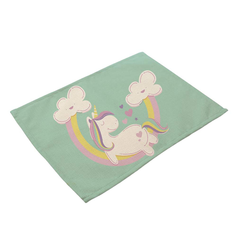 Wnakeli Placemat Table Mat Dining Desk Heat Resistant Cartoon Horse Cup Mat Table Place Mats for Dining Table Home Restaurant 1Pcs