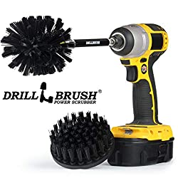 Grill Accessories Drill Brush Ultra Stiff Scrub Brush Kit With Extension Bbq Accessories Smoker Grill Brush Hard Water Calcium Rust Mineral Deposit Graffiti Grease And Stain Remover