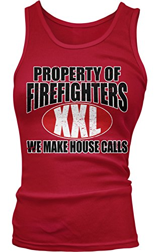 Junior Firefighter Badge (Amdesco Junior's Property of Firefighters We Make House Calls Tank Top, Red Large)
