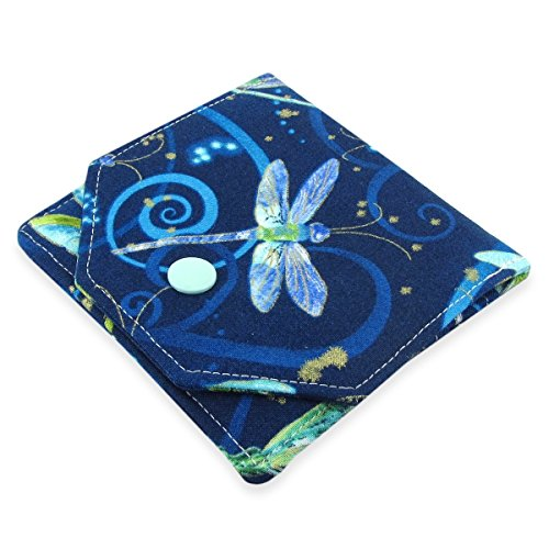 Handmade Dragonfly Fabric Small Women's Credit Card And Cash Wallet - Lightweight, Perfect For Travel