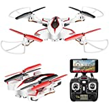 AUKWING SYMA X56W Remote Control Drone Foldable Quadcopter Aerial Photography with 720P HD Camera Rechargable Electronic Toy for Child's Gift White