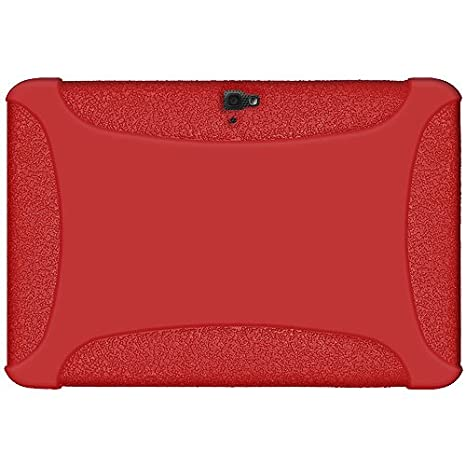 Amzer Silicone Jelly Skin Fit Case Cover for Google/Samsung Nexus 10, Red (AMZ95135)